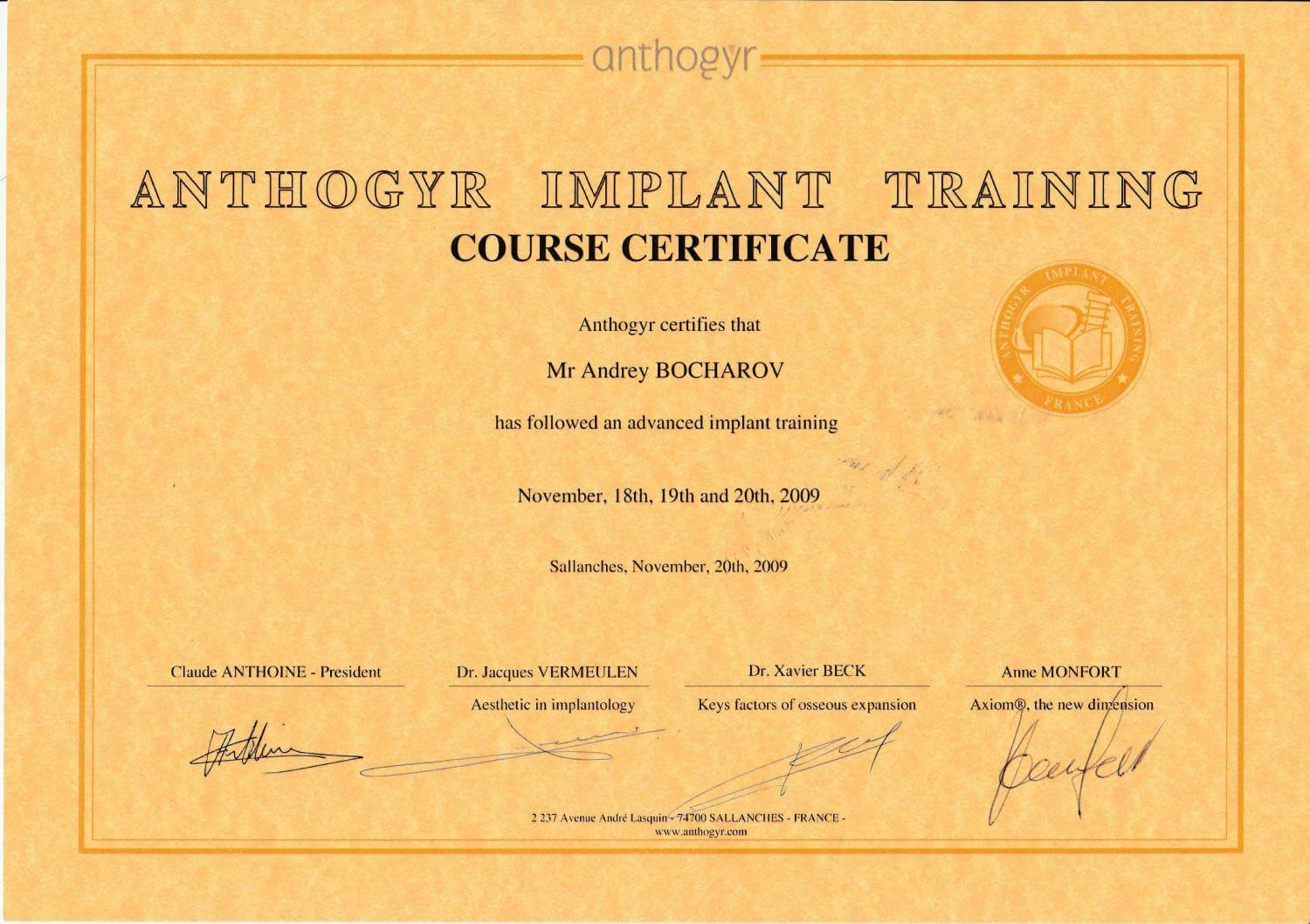 Anthogyr Implant Training
